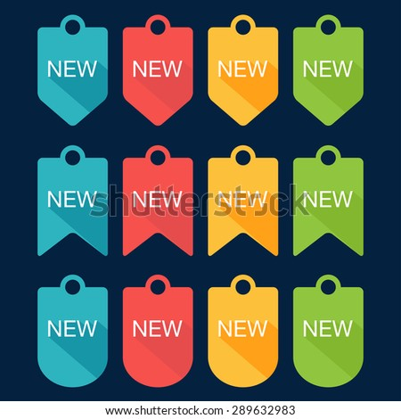 Sign New labels collection. Flat design. Vector illustration - stock vector