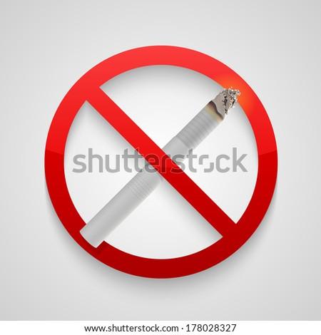 Sign no smoking allowed. Vector - stock vector