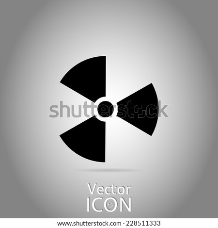 Sign of radiation. Flat style. Made in vector - stock vector