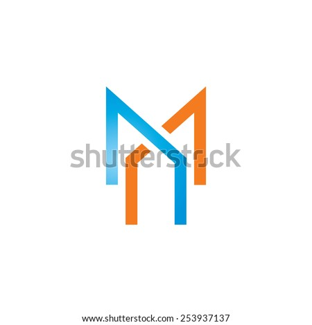 Sign of the letter M and X Branding Identity Corporate vector logo design template Isolated on a white background - stock vector