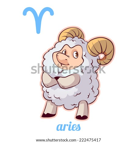 Sign of the zodiac - Aries - stock vector