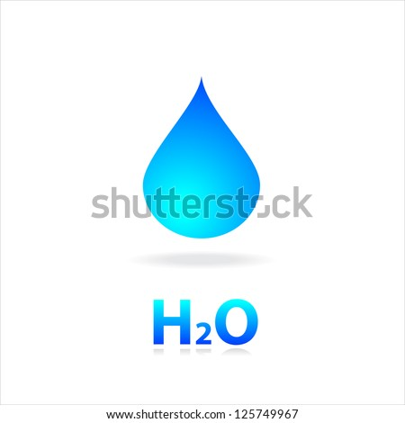 Sign of water. H2O. Template ideas for design. - stock vector
