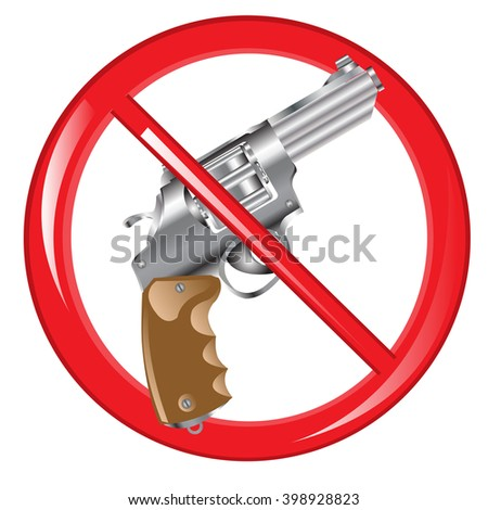 Sign prohibiting weapon - stock vector