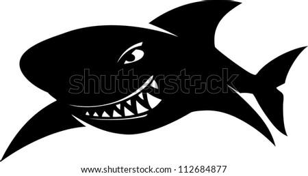 Sign sharks, illustration - stock vector