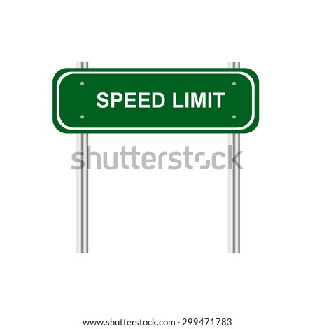 Sign speed limit - stock vector