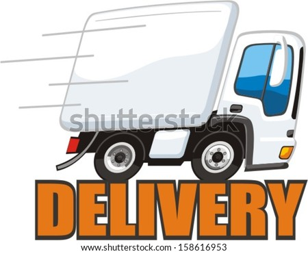 sign speedy delivery of goods and services - stock vector