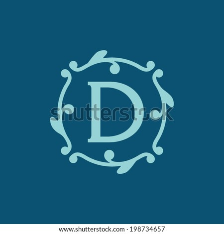Sign the letter D Branding Identity Corporate vector logo design template Isolated on a dark background - stock vector