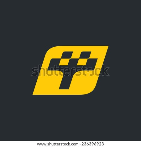 Sign the letter T, Taxi Branding Identity Corporate vector logo design template Isolated on a black background - stock vector