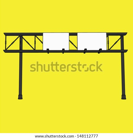 Signage on street vector - stock vector