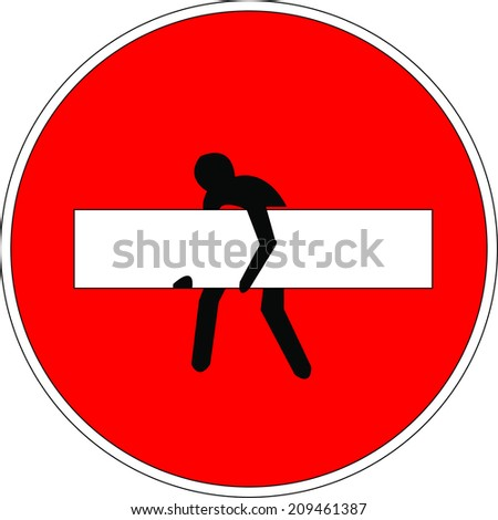 signage vector format - stock vector
