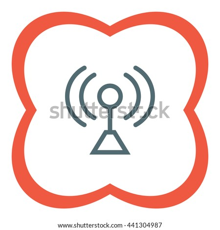 Signal strengt sign line vector icon. Wi Fi signal vector icon. Wireless connection symbol. - stock vector