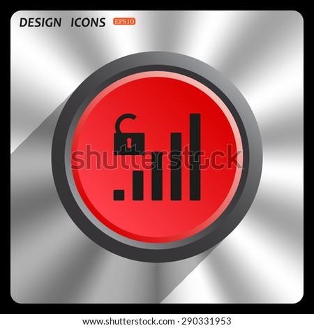 signal strength indicator, open access. icon. vector design - stock vector