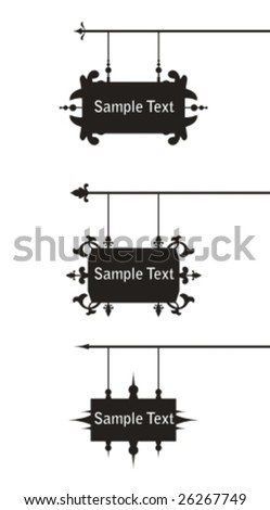 Signboard collection. - stock vector