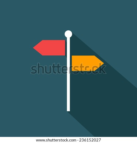 signpost flat icon. vector illustration - stock vector