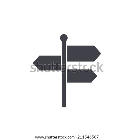 Signpost,vector illustration - stock vector