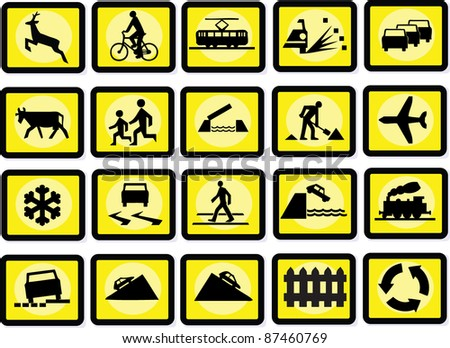 Signs - stock vector