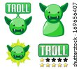 Signs for troll - stock vector