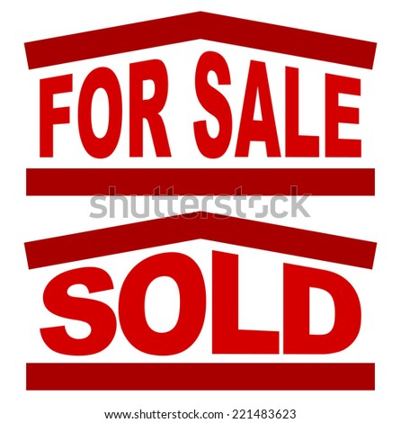 Signs, graphic for housing, real estate concepts - stock vector