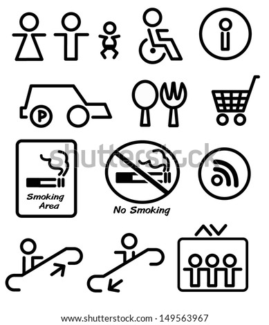 signs in the department store - stock vector