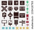 signs set of icons - stock vector