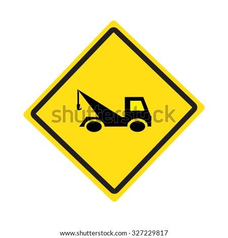 Signs warn truck - stock vector