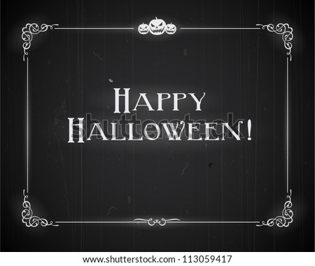 Silent movie ending screen - Happy Halloween - Scratches can be easily removed for a brand new look - Vector EPS10 - stock vector