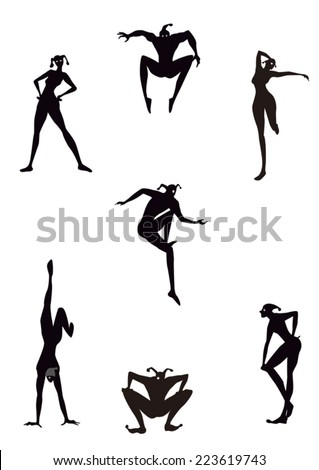 silhouette - stock vector