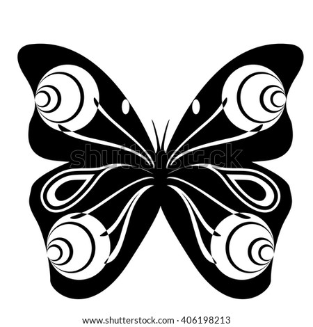 Silhouette of a Butterfly. Butterfly icon. Butterfly icon vector. Butterfly icon illustration. Butterfly icon web. Butterfly icon Eps10. Butterfly icon image.Butterfly icon sign. Butterfly icon art. - stock vector
