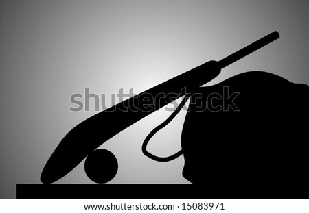 silhouette of a cricket kit	 - stock vector