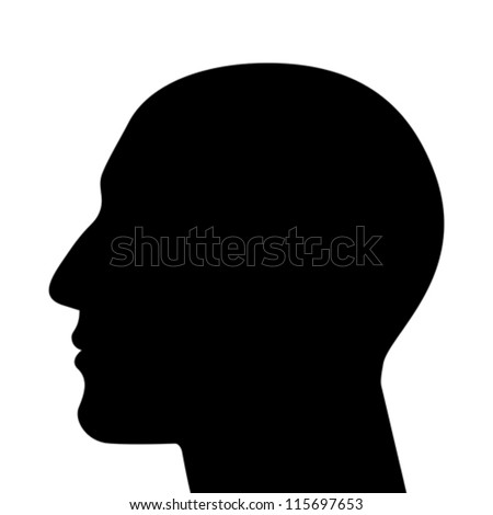 SIlhouette of a head isolated - stock vector