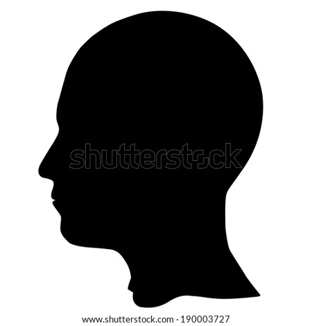 SIlhouette of a head isolated on white - stock vector