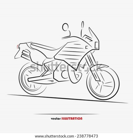 Silhouette of sport motorcycle for your design - stock vector