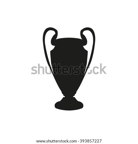Silhouette  of the Champions Cup. Icon vector illustration - stock vector