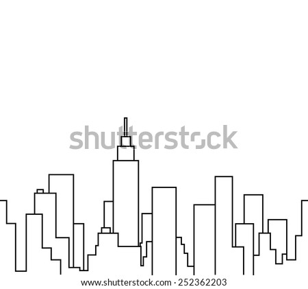 Silhouette of the cityscape vector illustration background  - stock vector
