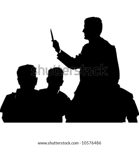 silhouette people.vector image - stock vector