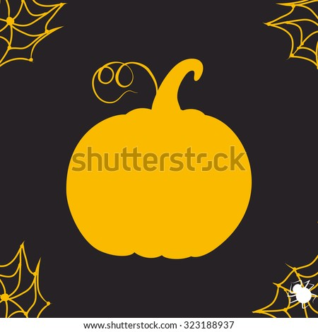 Silhouette pumpkin for your artworks. Halloween background - stock vector