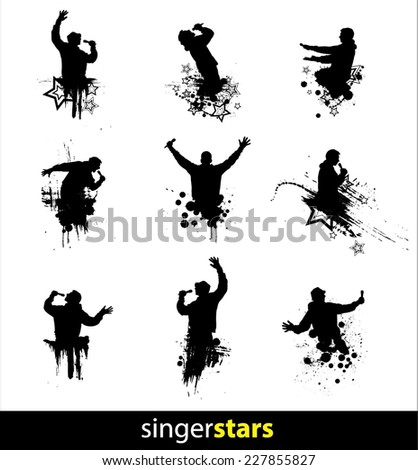 Silhouettes  for performance advertising banners  - stock vector