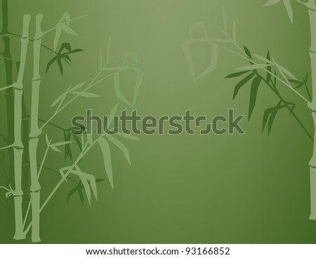 Silhouettes of bamboo with room for copy. - stock vector