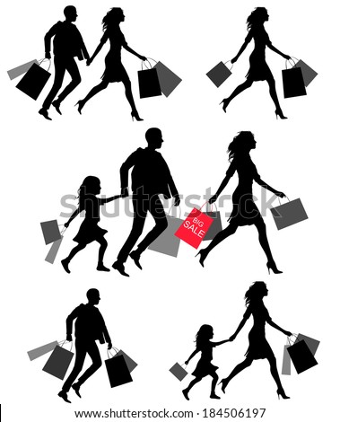 Colorful shoping bags and SALE text Royalty Free Stock Images