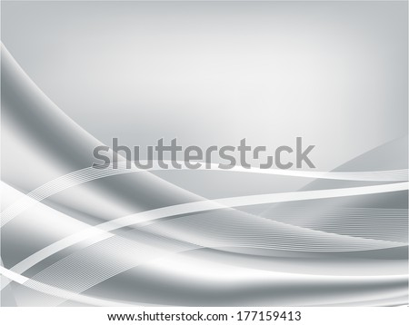 Silver abstract background, vector illustration - stock vector