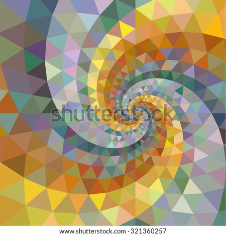Silver and gold polygon swirl rainbow background. - stock vector