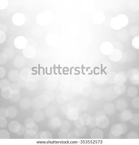 Silver Background With Bokeh With Gradient Mesh, Vector Illustration - stock vector