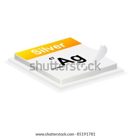 silver button - stock vector
