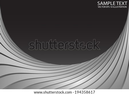 Silver curved space frame background illustration - Metal curved   modern design  template - stock vector