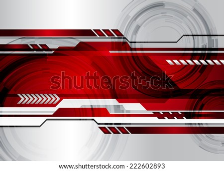 Silver Dark red Light Abstract Technology background for computer graphic website internet and technology. - stock vector