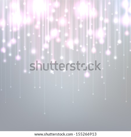 Silver defocused background with brigth sparkles. Vector illustration.   - stock vector