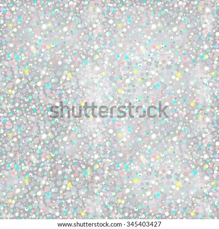 Silver Glitter Background - seamless texture - in vector - stock vector