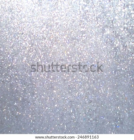 Silver glitter metal textured background. Traced vector abstract illustration, eps10. Design card with sparkles for christmas, party, wallpaper, print, scrapbook, textile. Metallic banner.  - stock vector