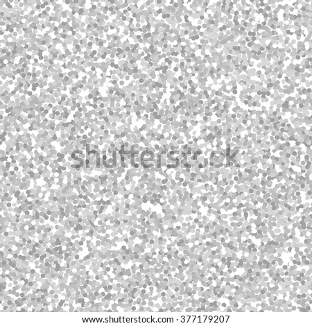Silver glitter texture seamless pattern, sparkle vector background - stock vector