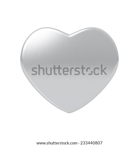 Silver heart. Highly detailed vector illustration. - stock vector